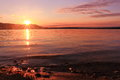 Sunrise By A Lake Inspiring Relax And Quietness Stock Photography - 60018002