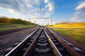Cargo Train Platform At Sunset. Railroad In Ukraine. Railway Royalty Free Stock Image - 60026506