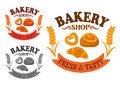 Bakery Icon With Sweet Buns And Croissant Royalty Free Stock Photos - 60031508