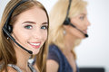 Portrait Of Call Center Worker Royalty Free Stock Image - 60041916