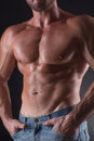 Torso Of Bodybuilder Man Royalty Free Stock Photography - 60043067