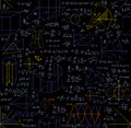 Mathematical Vector Seamless Pattern With Figures, Formulas, Plots, Geometry Tasks And Other Calculations Stock Photography - 60047062