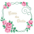 Vintage Wedding Invitation With Roses Stock Image - 60051521