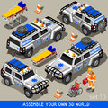 First Aid 02 Vehicle Isometric Stock Photography - 60052032