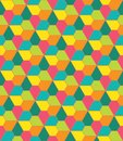 Vector Modern Seamless Colorful Geometry Pattern, Flowers Pentagon Royalty Free Stock Photography - 60057737