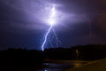 Lightning In The Sky Stock Photography - 60060182