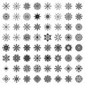 Big Set Of  Snowflakes (64 Snowflakes) Royalty Free Stock Image - 60092916