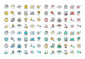 Flat Line Colorful Icons Collection Of Business And Finance Stock Photos - 60107053