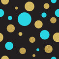 Classic Dotted Seamless Gold Glitter Pattern Royalty Free Stock Image - 60117656