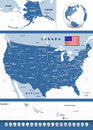 USA Map With Navigation Icons Stock Photos - 60131663