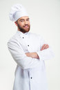 Chef Cook Standing With Arms Folded Royalty Free Stock Image - 60147966