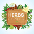 Herbs And Spices With Wooden Chopping Board Royalty Free Stock Images - 60154319
