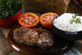 Rice, Tomato And Steak Stock Images - 60155694
