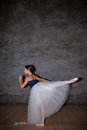 The Beautiful Ballerina Posing In Long White Skirt Royalty Free Stock Images - 60156689