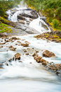 Husedalen - Valley Of Waterfalls Norway. The Trail Stock Photography - 60159242