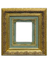 Old Vintage Golden Picture Frame Isolated On White Stock Image - 60162691