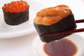 Sushi, Sea Urchin And Salmon Roe Stock Photography - 60166492