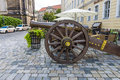 Ancient Cannon Of The 17th Century On The Square Neumarkt. Stock Photo - 60175860