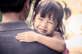 Happy Little Girl Resting On Her Father S Shoulder Royalty Free Stock Photos - 60179778