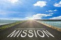 START - Road Surface Of Begin To The Mission. Stock Image - 60182581