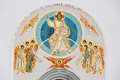 Frescoed Wall Of The All Saints Church In Minsk Stock Photos - 60182653