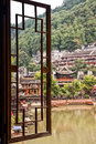 Window View Of Fenghuang Village Stock Photo - 60182790