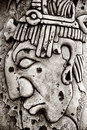 Indian Mayan Carved In Stone Stock Photography - 60187502