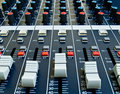 Faders On Audio Mixer Royalty Free Stock Photography - 6023647