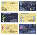 Business Card Templates Set Royalty Free Stock Image - 6029036