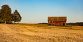 Barn In A Harvested Field Stock Photo - 60206860