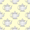 Illustration Kettles. Seamless Pattern With Teapots. Royalty Free Stock Photo - 60220835