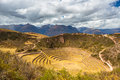 Concentric Terraces In Moray, Sacred Valley, Peru Royalty Free Stock Image - 60223096