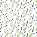 Lavender. Seamless Pattern With Flowers. Hand Stock Images - 60240914