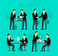 Two Businessman Negotiate And Sign A Paper. Shake Stock Photos - 60241793