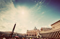 St. Peter S Square In Vatican City. View On The Basilica, Colonnades And The Obelisk Royalty Free Stock Photography - 60250587