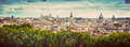 Panorama Of The Ancient City Of Rome, Italy. Vintage Royalty Free Stock Photo - 60252415