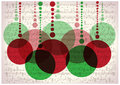 Christmas Balls On Vintage Music Notes Background Stock Photography - 60252822