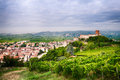 View Of Soave (Italy) And Its Famous Medieval Castle Stock Image - 60256521