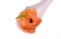 Smoked Salmon On Top And Spoon Seen Closely Stock Photos - 60259603