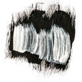 Black And White Abstract Brush Strokes Acrylic Paint Stock Photos - 60265263