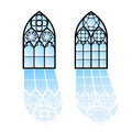 Gothic Windows. Vintage Frames. Church Stained-glass Windows Stock Images - 60268084