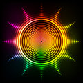Vector Shining Neon Rainbow Colors Sun Royalty Free Stock Photography - 60273387