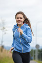 Girl Running Outdoor Royalty Free Stock Images - 60284099