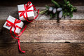 Christmas Holiday Background With Gifts And Copy Space Stock Photo - 60289660