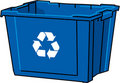 Vector Blue Recycle Bin Stock Photography - 6030802