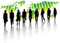Business People And Map Stock Image - 6037471
