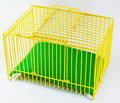 Yellow Cage And Green Sheet For Tiny Pet Royalty Free Stock Photo - 60322455