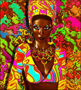 Beauty Of Africa. Colorful Digital Art Scene Of  A Beautiful African Woman, Royalty Free Stock Photo - 60338685