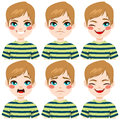 Teenage Boy Face Expressions Stock Image - 60352551