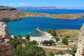 View Of St Paul S Bay From Acropolis, Lindos. Rhodes, Greece Royalty Free Stock Photography - 60362427